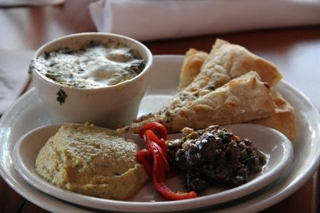 Spinach, Hummus, Tapenade - $8