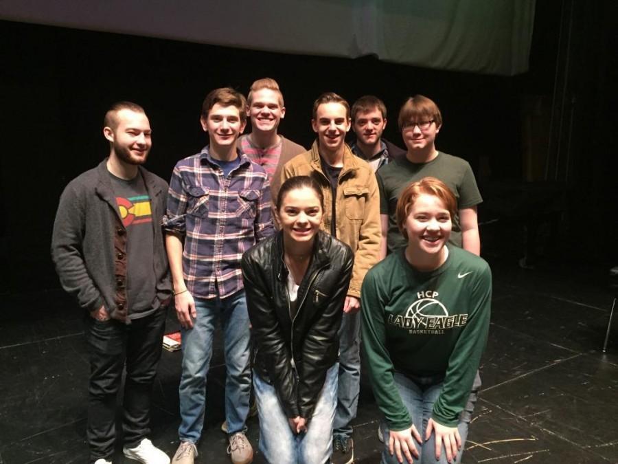 Front Row: Lydia Sharpe and Kate Williams. Back Row: Guillaume Saaty, Daniel Heckman, Mitchel Williams, Ryan Biggers, Matt Webb and Jeremiah Jacobson.