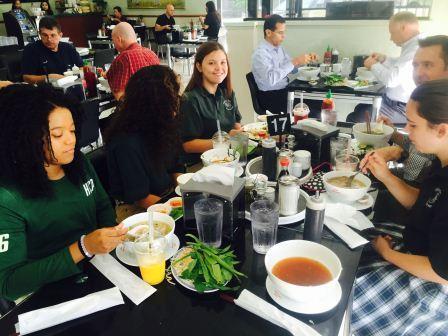 HCP News Team enjoying food at Pho Lien Hoa
