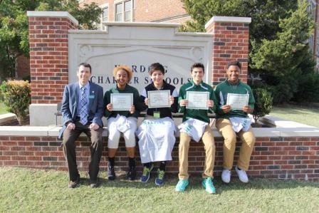 From left to right: Dr. Mylo Miller, Lariah Allen, Gerardo Santillan, Arian Farkhoy and Errol Davis.