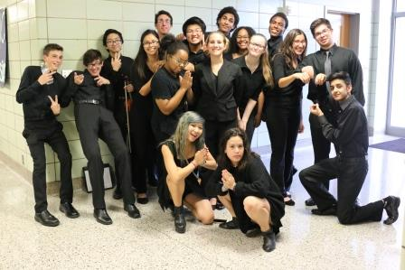 Students participate in orchestra activities, earn spots in top group