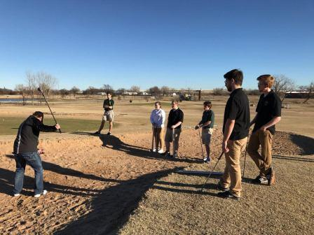 Golf team practices at The First Tee Metropolitan.