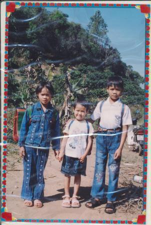 Le Nguyen and her siblings in Vietnam