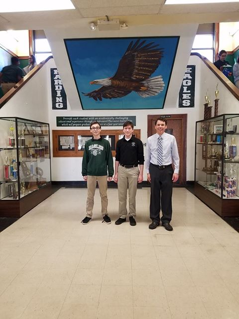 Seniors Isaiah Gilley and Conner Mulvaney both earned coveted spots with the Academic All State group.