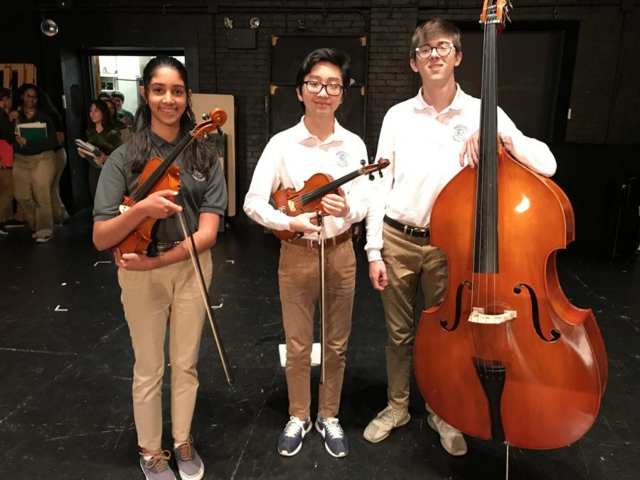 Freshman+Deepika+Sitaraman+and+sophomores+Victor+Nguyen+and+Jackson+Burnette+all+earned+spots+in+the+North+Central+Honor+Orchestra+in+early+October.