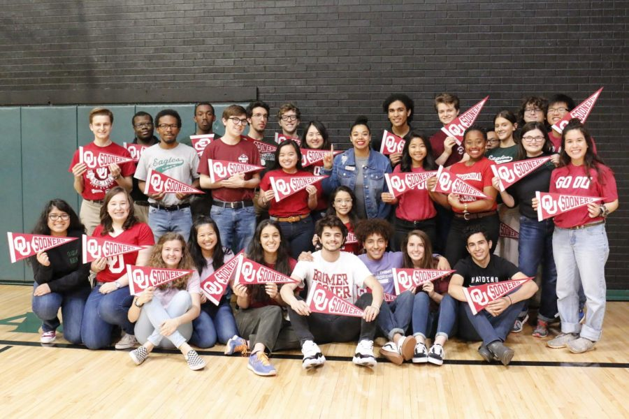 The University of Oklahoma welcomes a large group of HCP seniors into its freshman class.