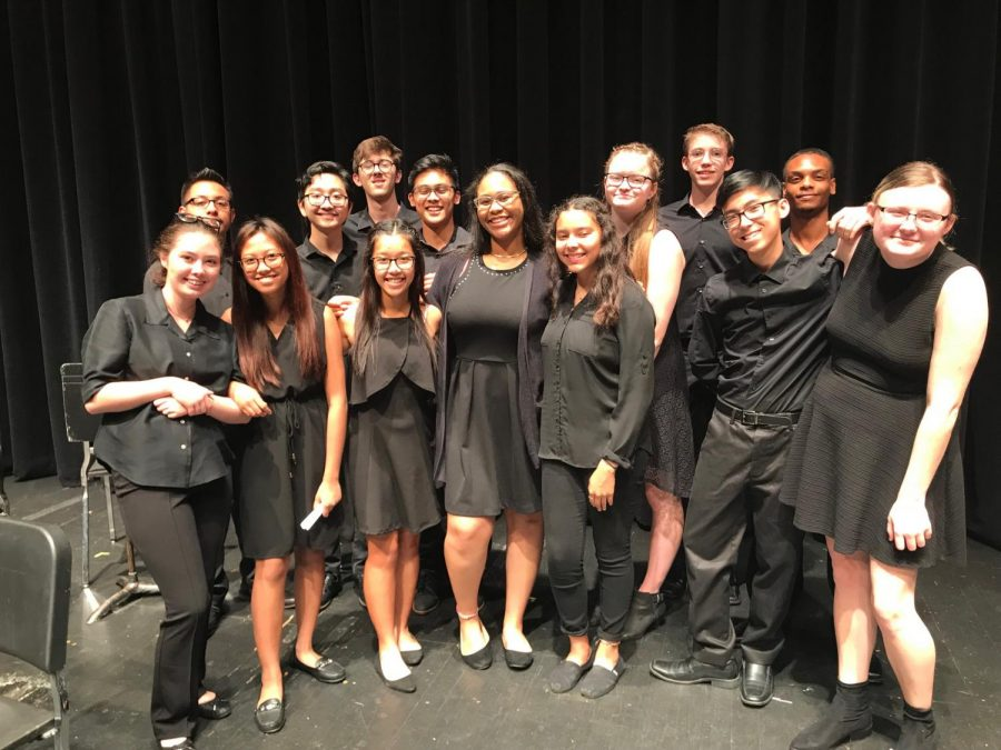 Orchestra+students+perform+with+honor+group