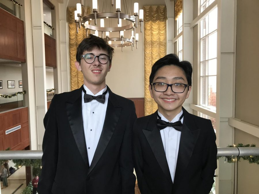 Juniors Jackson Burnette and Victor Nguyen participated with the NCHO clinic in November, under the direction of Dr. Thomas Dickey of Oklahoma State Univeresity.