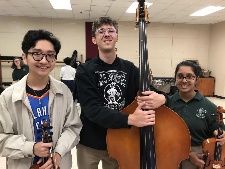 Seniors Victor Nguyen and Jackson Burnette and freshman Poojita Sitaraman earned spots in the prestigious North Central Honor Orchestra in early October. The trio will perform with students from schools all over the central Oklahoma region for a clinic and concert at Oklahoma City University.