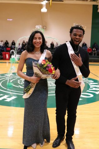 Seniors Karen Rivera and Jack Mims are crowned Homecoming Queen and King.