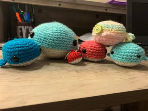 Senior Rori Reiswig crocheted small animals while practicing social distancing in the spring.