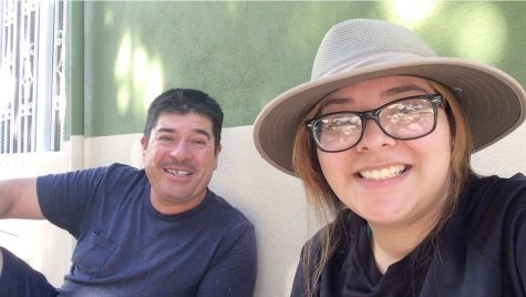 Sophomore Paola Zapata and her dad share a happy moment. Zapata